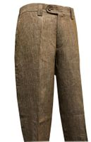 Inserch Linen Pants for Men Summer Brown Flat Front P3110-60
