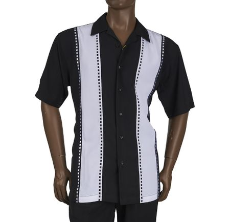 Inserch Men's Black Casual Walking Outfit 80956-01