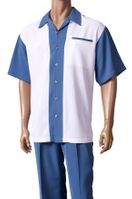 Inserch Men's Blue White Casual Walking Suit 80756-120 IS
