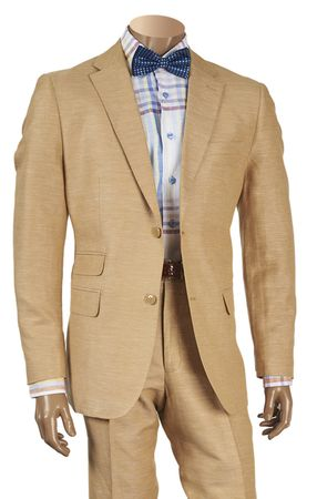 Inserch Men's Linen Suit Khaki 2 Piece 660128 IS