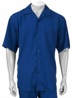 Inserch Men's Royal Blue Short Sleeve Walking Suit 9356 IS