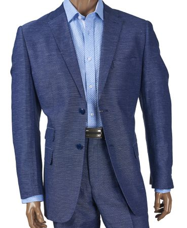 Mens Linen Suits by Inserch Denim Blue 2 Piece 660128-10 IS