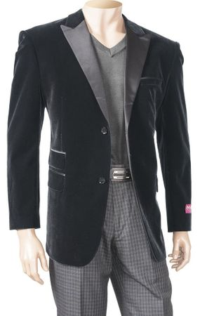 Inserch Mens Black Velvet Blazers 525 IS