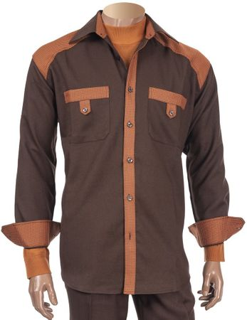 Inserch Walking Suit Brown Houndstooth Trim Outfit 143-25