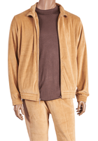 Inserch Mens Camel Velour Set 140