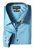 Inserch Mens Ice Blue Cotton Shirt with Trim 271-92