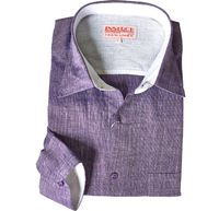 Inserch Mens Purple Heather Linen Shirt 24116-126