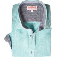 Inserch Mens Seafoam Green Linen Shirt 24116-103