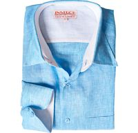Inserch Mens Turquoise Linen Shirt 24116-76