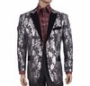 Inserch Shiny Black Pattern Dinner Jacket Blazer 5241-01