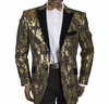 Inserch Shiny Gold Pattern Dinner Jacket Blazer 5241