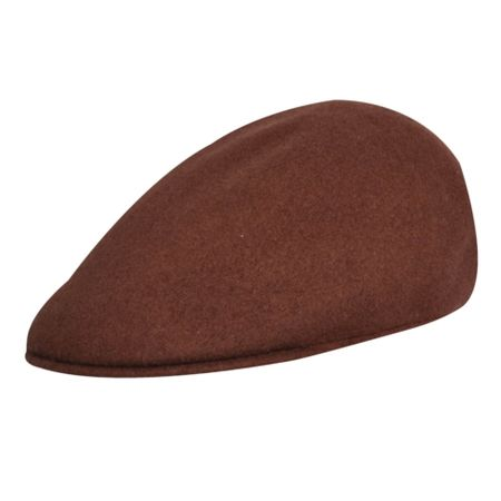 Kangol Hats Mens Chocolate Brown 100% Wool  507 Hat Size S