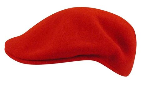 Kangol Hats Mens Red Wool 504 Cap Heritage Seamless - click to enlarge