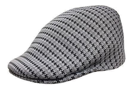 Kangol Headwear Mens Gray Black Hounds Tooth Pattern 507 Hat - click to enlarge