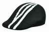 Kangol Mens Black Wool Dorsal Stripe 507 Hat