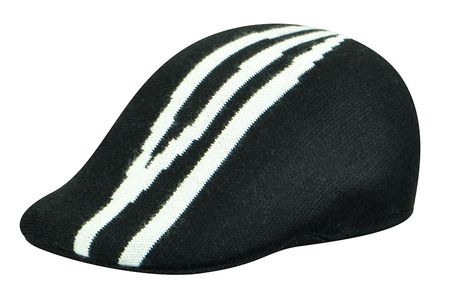 Kangol Mens Black Wool Dorsal Stripe 507 Hat - click to enlarge