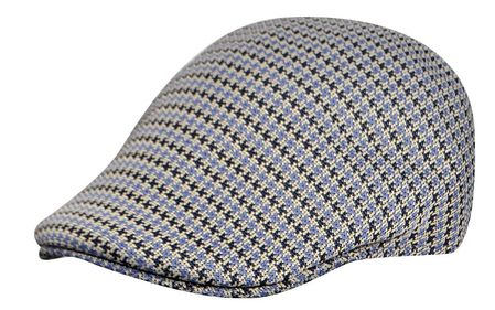 Kangol Blue Basset Check Hat 507 Size XL