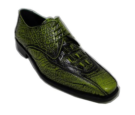 Liberty Green Gator Print Leather Dress Shoes 938