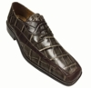 Liberty Mens Taupe Alligator Print Dress Shoes LS447