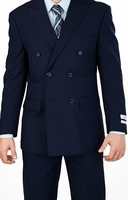Lorenzo Bruno Double Breasted Navy Regular Fit Suit C602DB