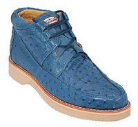 Los Altos Blue Ostrich Casual Chukka Boot ZA060314