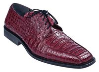Los Altos Crocodile Shoes Mens Burgundy Bike Toe ZV038206