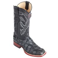 Los Altos Men's Gray Pirarucu Square Toe Cowboy Boots 8221009