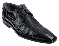Los Altos Mens Black Crocodile Shoes Plain Toe ZV088205