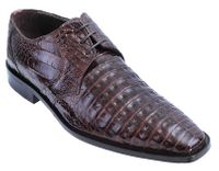 Los Altos Mens Brown Crocodile Shoes Plain Toe ZV088207