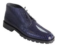 Los Altos Navy Blue Stingray Lizard Chukka Boot ZA2061210