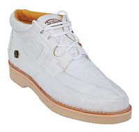 Los Altos White Ostrich Casual Chukka Boot ZA060328