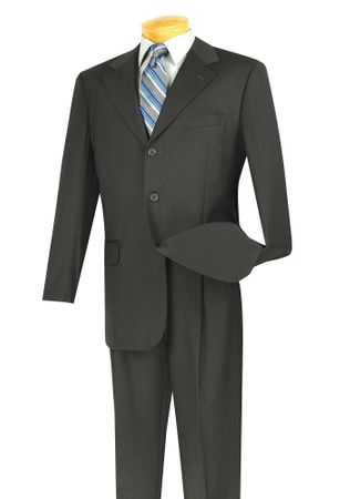 Lucci Men's  3 Button Single Breasted Charcoal Suit 3PP