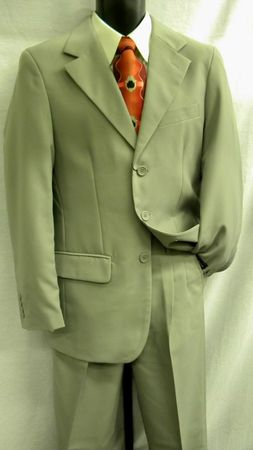 Lucci Men's 3 Button Single Breasted Grey Suit 3PP  - click to enlarge