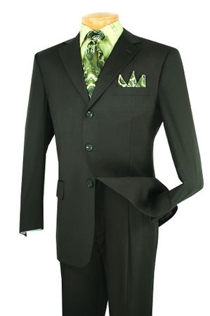 Lucci Men's 3 Button Single Breasted Olive Suit 3PP