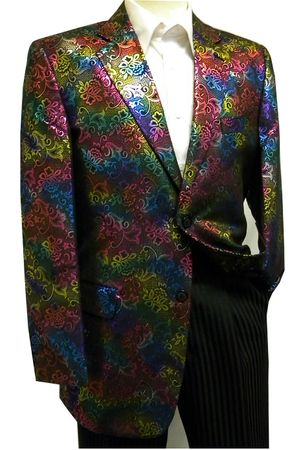 After Midnight Mens Multi Color Entertainer Vegas Blazer Jacket 5680 IS