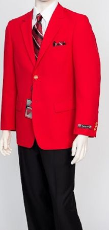 Pacelli Mens Classic Red Blazer Jacket Blair 70008 - click to enlarge