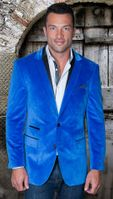 Manzini Mens Royal Trim Collar Velvet Blazer MZV-304 IS