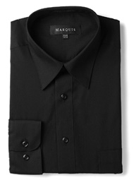 Black Slim Fit Dress Shirt Marquis 009SL