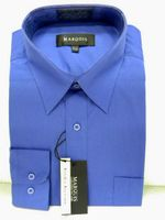 Marquis Mens  French Blue Long Sleeve Dress Shirt 009