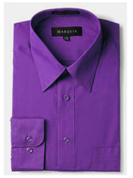Marquis Mens Grape Slim Fit Dress Shirt 009SL