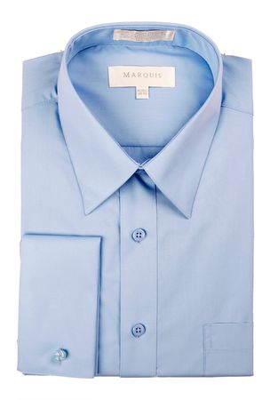 Marquis French Cuff Shirt Mens Light Blue Regular Collar 009F