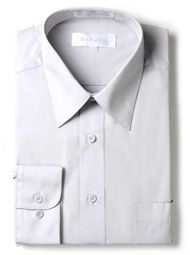 Marquis Mens Silver Slim Fit Dress Shirt 009SL