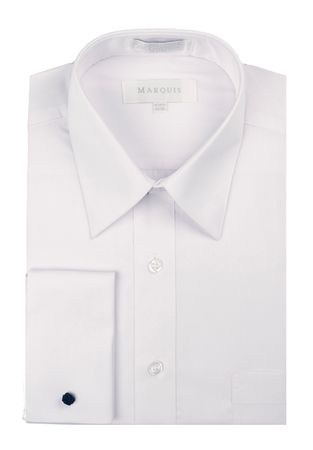 Marquis French Cuff Shirt Mens White Regular Collar 009F