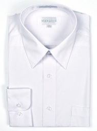 White Slim Fit Dress Shirt Marquis 009SL