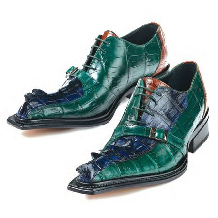 Mauri Green Blue Horn Back Shoes Raptor 44190