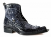 Mauri Italy Mens Black Gray Hornback Long Toe Boot 42742