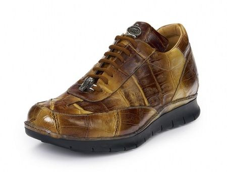 Mauri Mens Brown Crocodile Hand Painted Mincio Sneaker 8932 - click to enlarge