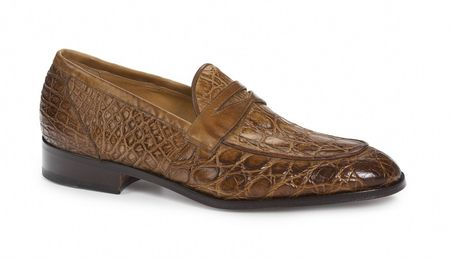 Mauri Brandy Crocodile Penny Loafer Tronto 4862