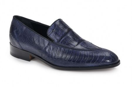 Mauri Blue Crocodile Ostrich Loafers Serio 4878