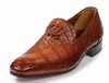 Mauri Alligator Shoes Italy Mens Burnished Gold Slip On 4821